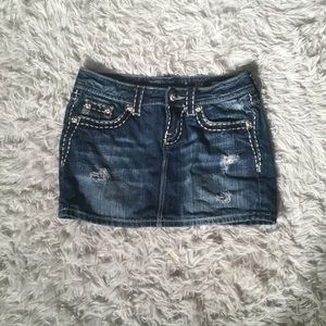 Miss Me Denim Mini Skirt